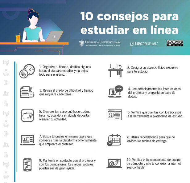 10 consejos para estudiar en línea